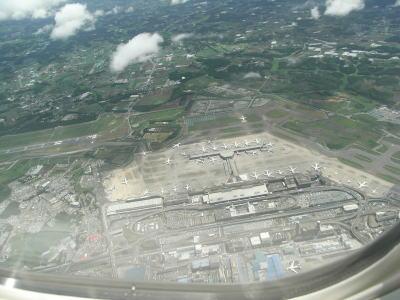 成田空港上空